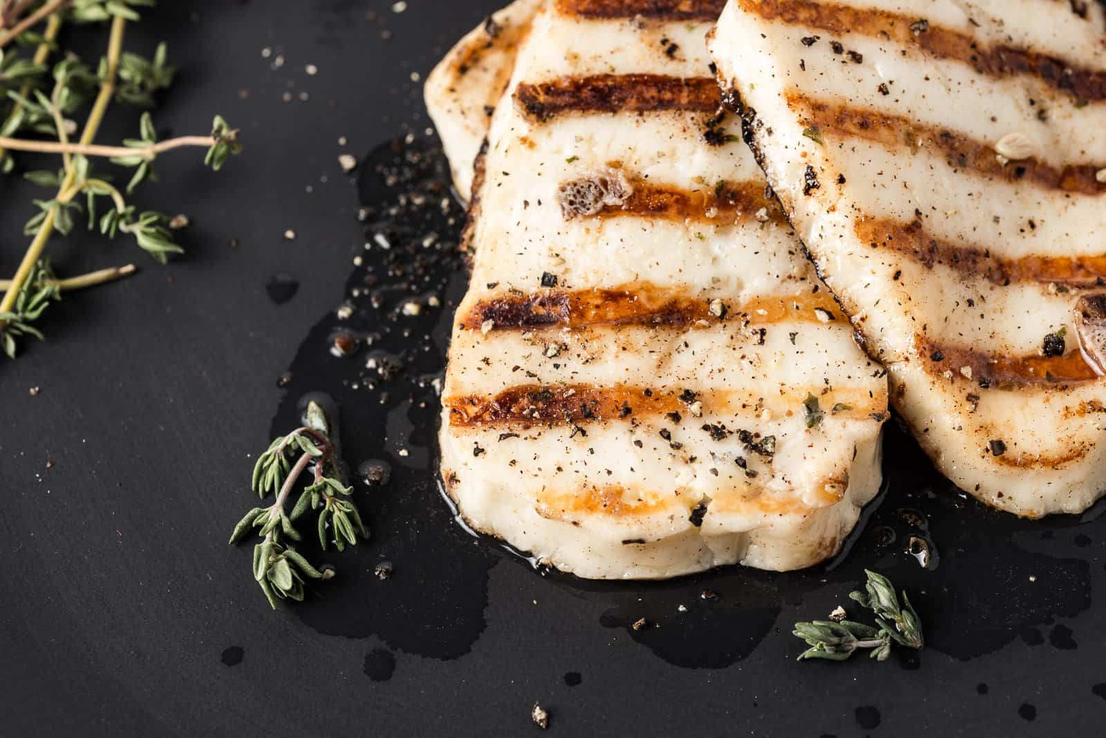 Lemon Thyme Infused Grilled Haloumi